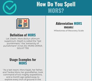 Correct spelling for mors