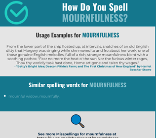 Correct spelling for mournfulness