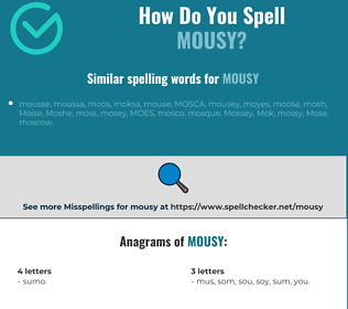 Correct spelling for mousy