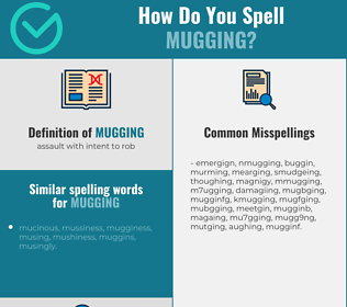 Correct spelling for mugging