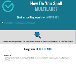 Correct spelling for multilane
