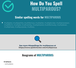 Correct spelling for multiparous