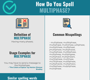 Correct spelling for multiphase