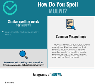 Correct spelling for mulwi