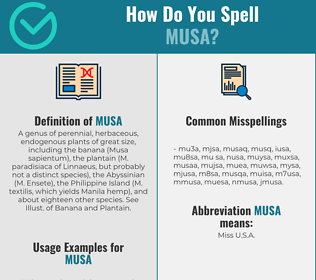 Correct spelling for musa