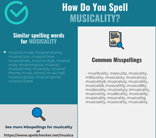 Correct spelling for musicality