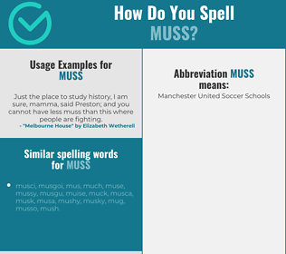 Correct spelling for muss