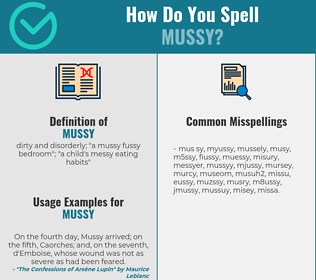 Correct spelling for mussy
