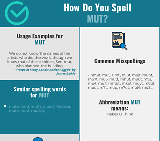 Correct spelling for mut