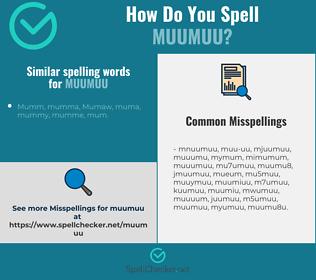 Correct spelling for muumuu