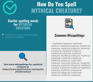 Correct spelling for mythical creature