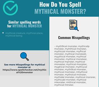 Correct spelling for mythical monster