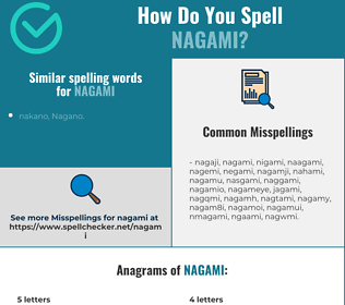Correct spelling for nagami