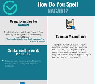 Correct spelling for nagari