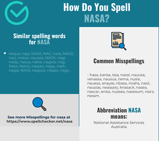 Correct spelling for nasa