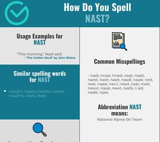 Correct spelling for nast