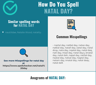 Correct spelling for natal day