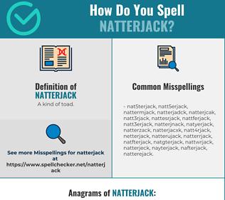 Correct spelling for natterjack