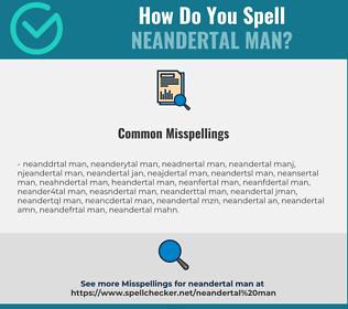 Correct spelling for Neandertal Man