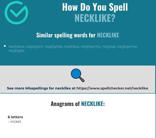Correct spelling for necklike