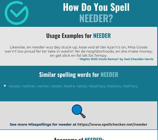 Correct spelling for needer
