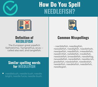 Correct spelling for needlefish