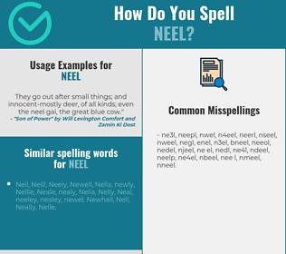 Correct spelling for neel