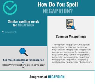 Correct spelling for negaprion