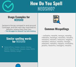 Correct spelling for neosho