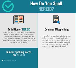 Correct spelling for nereid