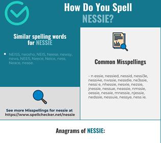 Correct spelling for nessie
