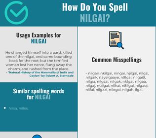Correct spelling for nilgai