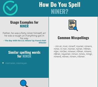 Correct spelling for niner
