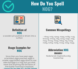 Correct spelling for nog