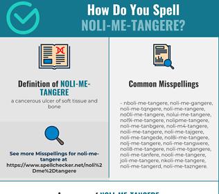 Correct spelling for noli-me-tangere