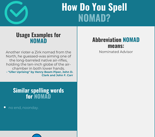 Correct spelling for nomad