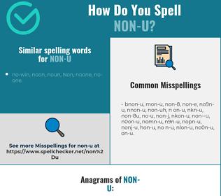 Correct spelling for non-u