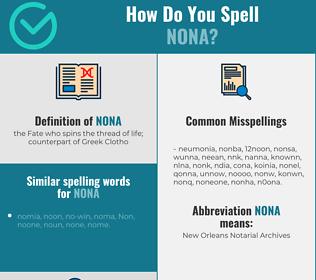 Correct spelling for nona
