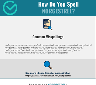 Correct spelling for norgestrel