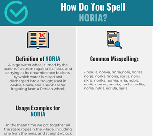 Correct spelling for noria