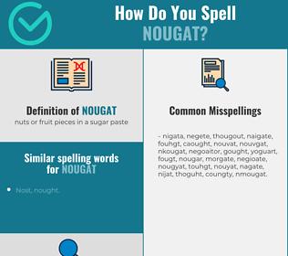 Correct spelling for nougat