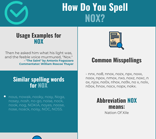 Correct spelling for nox