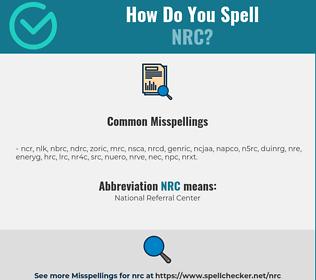 Correct spelling for nrc