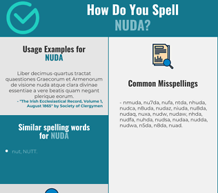 Correct spelling for nuda