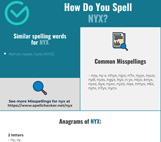 Correct spelling for nyx