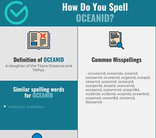 Correct spelling for oceanid