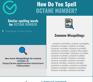 Correct spelling for octane number