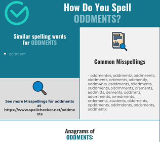 Correct spelling for oddments