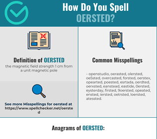 Correct spelling for oersted