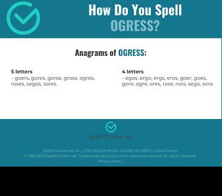 Correct spelling for ogress